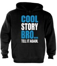 Cool Story Bro Hoodie jersey Shore block Tell it Again Sarcastic funny blue