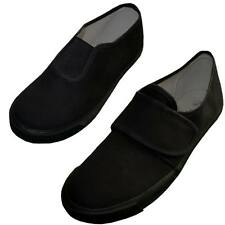 P.E Gym Games Sports Pumps Velcro or Slip on Black Brand New Kids and Adults