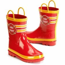 Little Boy's Fire Chief Rain Boots (Sizes 7/8, 9/10 and 11/12) (GNR395WM-1/2/3)