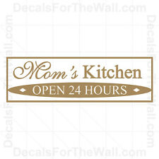 Mom's Kitchen Wall Decal Vinyl Art Sticker Quote Decor Inspirational Saying KI14