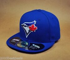 NEW ERA 59FIFTY MLB CAP TORONTO BLUE JAYS GAME ROYAL WHITE ON FIELD FITTED HAT
