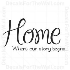 Home is Where Our Story Begins Wall Decal Vinyl Art Sticker Quote Decor H08