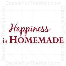 Happiness is Homemade Kitchen Wall Decal Vinyl Art Sticker Quote Decor KI06