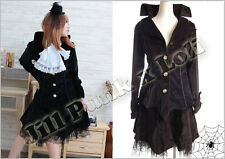 Lolita Goth EGL Victorian Dame corduroy stripe suit outfit
