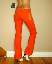 $194 James Spice Coral Orange Colored Wash Lifting Slimming Boot Jeans USA 26