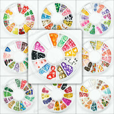 1 Wheel Mixed 3D Fimo Clay Slice Nail Art 9 Styles Tips Gems Decoration