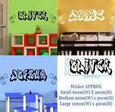 Graffiti Style PERSONALISED NAME WALL STICKERS GIRL BOY 3 sizes g1