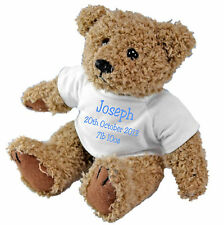 Newborn Baby / Birth / Christening Personalised Teddy Bear with a Gift Bag