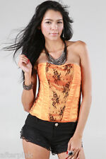 AFTERPINK Women Top LACED POINT TUBE BUSTIER CORSET Clubwear Cami Tank Blouse