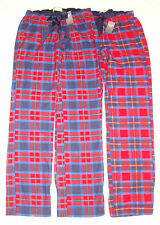 NWT WOMENS ABERCROMBIE & FITCH FLANNEL PLAID LOUNGE PAJAMA PANTS A&F Moose LOGO