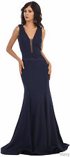 SALE ! FORM FITTING FORMAL DRESS BRIDESMAID EVENING PROM CRUISE GOWN & PLUS SIZE