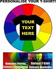 Mens Custom T-Shirt Printing - Design Your Own T-Shirts, Stag Hen - Free Postage