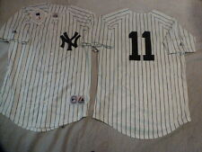 727 MAJESTIC New York Yankees BRETT GARDNER #11 SEWN Baseball Jersey WHITE New