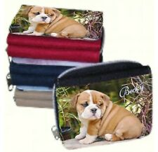 Personalised Ladies Purse with Bull Dog Pic or Add your Own Photo & Name - GIFT