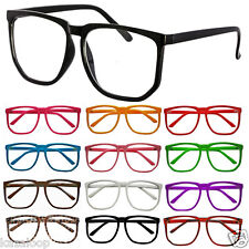 Oversized Large Retro Geek Nerd Wayfarer Clear Lens Glasses Party Fancy dress