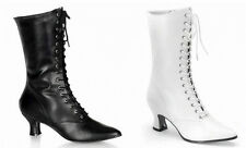 WOMEN VICTORIAN GRANNY PIONEER BOOTS WESTERN SALOON GIRL STEAMPUNK COSTUME SHOES