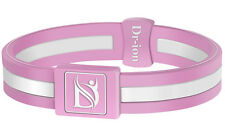 Negative Ion Health Wristband/Bracelet (Single Design) by Dr-ion - Pink/White