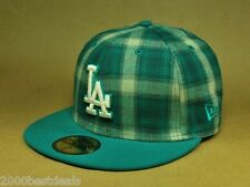 NEW ERA 59FIFTY LOS ANGELES DODGERS SUBFRESH AQUA PLAID CUSTOM FITTED MLB HAT