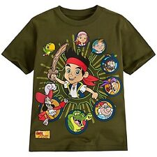 NWT Disney Store Character Panel Jake and the Never Land Pirates Tee T-Shirt NEW