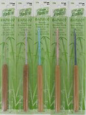 Bamboo Handle Silvalume Crochet Hook Sizes B-1 to N-15 (2.25-10.0mm) Susan Bates