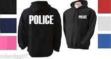 POLICE Hoodie Sheriff Event Bouncer Party Guard Police Sweatshirt S-3XL