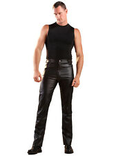 Leatherette Jeans Trousers  Black All Size | Sexy Fetish