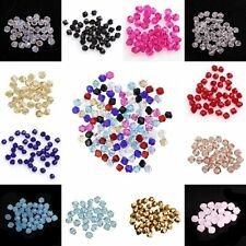 100pcs loose Glass Crystal Bicone 4mm Spacer Beads For DIY