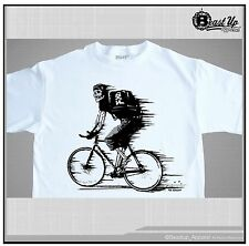 FIXED GEAR T SHIRT RIDE TILL YOU DIE  SIZES  M-2XL SKULL ON  FIXIE BIKE