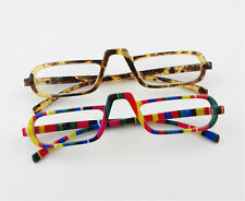 EGO Unisex Style Design Reading Glasses Rainbow Stripe/Amber Nerd Readers
