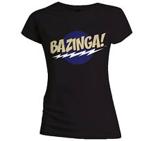 Official Skinny T Shirt BIG BANG THEORY Bazinga! BLACK All Sizes