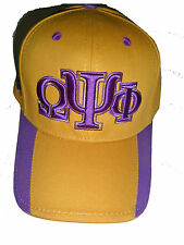 OMEGA PSI PHI GREEK LETTER BASEBALL CAP/HAT