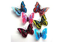 6pc 24pc 48pc 3D Artificial Butterfly for Refrigerator Magnets Decorations 7CM