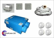 HRU100 Heat Recovery Ventilation Condensation 1,2,3 or 4 Rooms Complete Kit