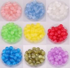 Sell 100pcs fashion style Round Acrylic Cat's Eye Spacer Beads 8mm 9 Colors