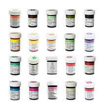 Wilton Food Colouring Gel Paste. Choose your Colours. Pink Red Black Orange Blue