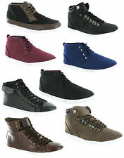 New Mens High Street Fashion Hi Top Casual Boots Lace Up Trainers Size 7-15 UK