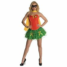 Adult DC Comics Batman Sexy Sidekick Robin Corset Dress Superhero Hero Costume