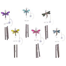 Window Sucker Stained Glass Effect Dragonfly Wind Chime Wing Span 5cm