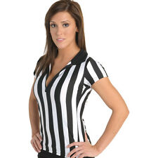 WOMENS REFEREE BAR UNIFORM REF TEE T-SHIRT 6 STYLES ANY SIZE BASKETBALL FOOTBALL
