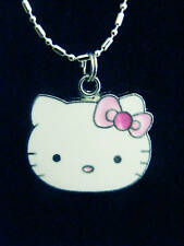 Hello Kitty Pretty Pink Bow  Charm Necklace