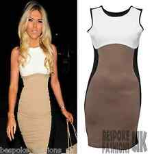 H3D Womens Celeb Towie Essex Slimming Effect Contrast Bodycon Ladies Dress