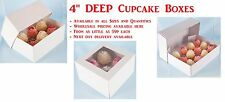 "4"" Deep Cupcake Boxes - Ideal for Christmas Cakes. Any Colour Size & Quantity"