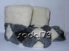 ★★★Men's Slippers 100% Sheep wool, size 5 6 7 8 9 10 11 12 ★★★