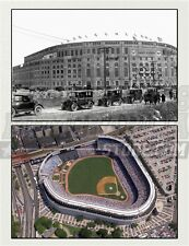 New York Yankees Yankee Stadium before after collage  8x10 11x14 16x20 photo 292