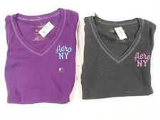 Aeropostale Womens 6111 V-Neck L/S Shirts Various Sizes/Colors NWT