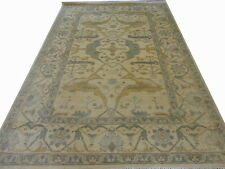 INDIAN HAND KNOTTED OUSHAK USHAK PERSIAN ORIENTAL RUG WOOL CARPET TEPPICH RC EHS