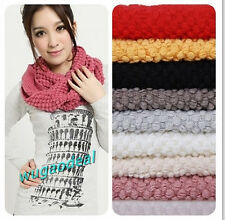 Fashion Women Warm Knit Neck Circle Wool Cowl Snood Long Scarf Shawl Wrap
