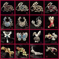 ~ Pretty Glitzy Kitsch Brooch ~ Free P&P ~ Gift Idea ~ Various Designs ~ Bling ~