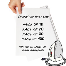 * CUSTOM IRON ON T SHIRT TRANSFER PERSONALISED TEXT * QUALITY PRINTS * ANY NAME