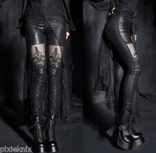 Punk Rave Macbeth wet look Gothic Leggings with lace panel S to 4XL K-144